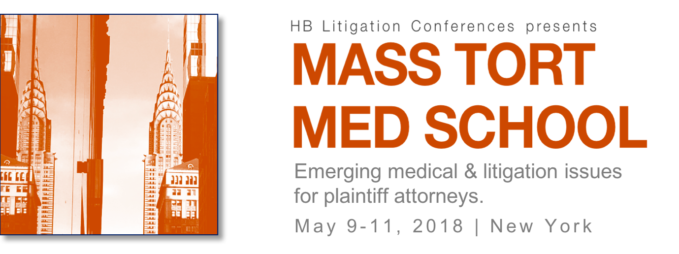Class Action Mastery | May 9-11, 2018 | New York | HB