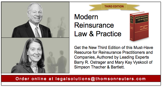 Modern Reinsurance Authored by Barry Ostrager and Mary Kay Vyskocil