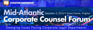 HB's Mid-Atlantic Corporate Counsel Forum