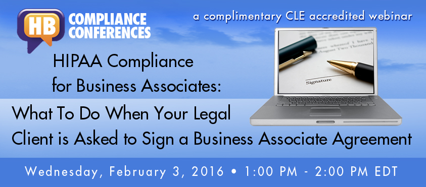 Hipaa Compliance For Business Associates  Hb Litigation Conferences