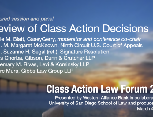Review of Class Action Decisions Panel