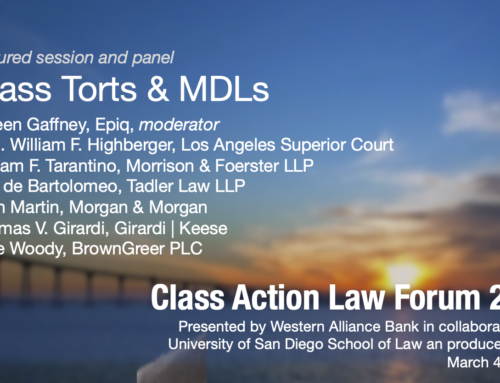 Mass Torts & Multidistrict Litigation Panel at Class Action Law Forum 2020 presented by Western Alliance Bank