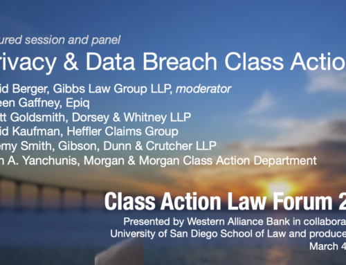 Privacy & Data Breach Class Actions Session Panel 2020